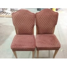 Red Diamond Pattern Chairs